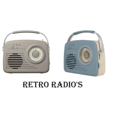 RETRO RADIO AM/FM ASSTD COLOURS