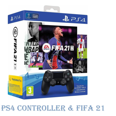 PLAYSTATION 4 CONTROLLER & FIFA 21