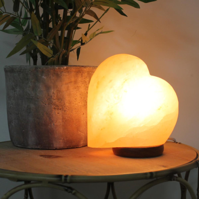 HIMALAYAN ROCK HEART LAMP