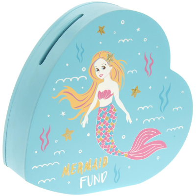 MERMAID HEART SHAPED MONEY BOX