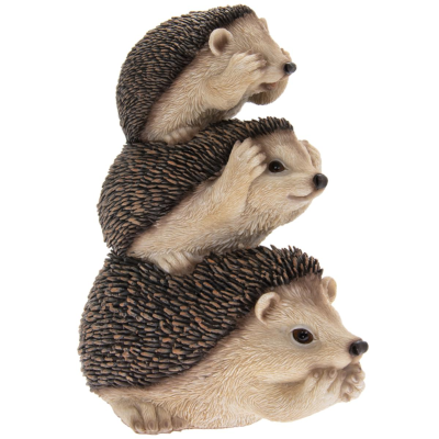 RESIN HEDGEHOGS STACKED