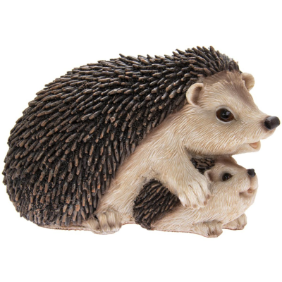 RESIN HEDGEHOGS WITH BABY