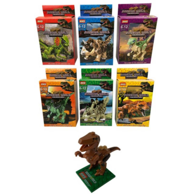 DINOSAUR BUILDING BRICK KITS