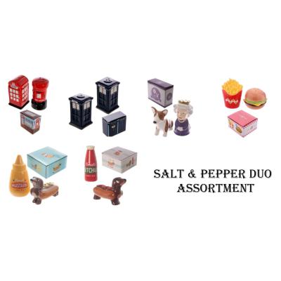 SALT AND PEPPER SHAKERS ASSTD