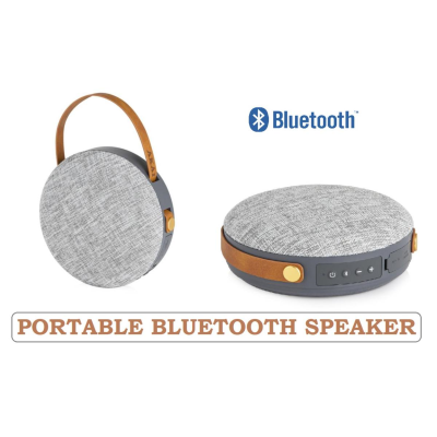 FABRIC ROUND PORTABLE BLUETOOTH SPEAKER