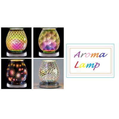 AROMA LAMP MIRROR 3D CIRCULAR ASSTD