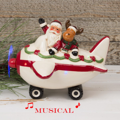 MUSICAL SANTA IN PLANE LED LIGHTS