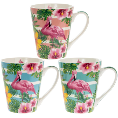 FLAMINGO MUGS 3 ASSTD