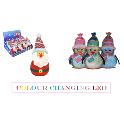SANTA / PENGUIN LED COLOUR CHANGING MIX