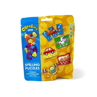 CBEEBIES 15pc SPELLING PUZZLE IN BAG