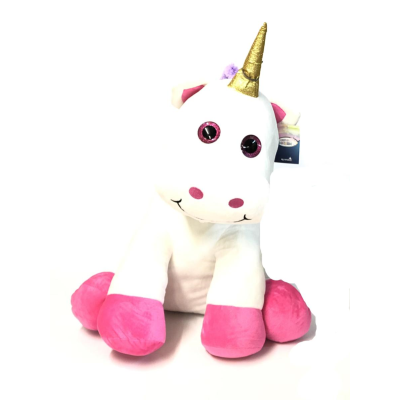 PLUSH UNICORN 60CM ASSD COLOURS