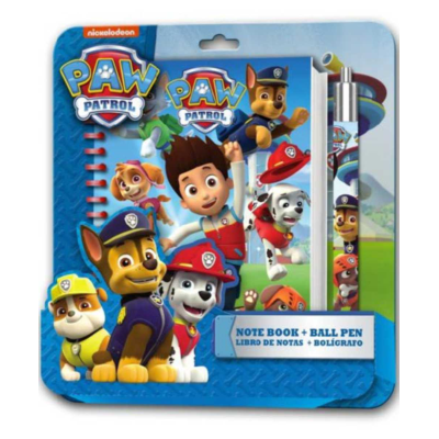 PAW PATROL NOTE BOOK AND PEN SET *