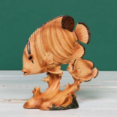 FISH WOOD EFFECT FIGURE
