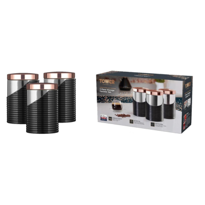 ROSE GOLD 3PC CANISTER SET