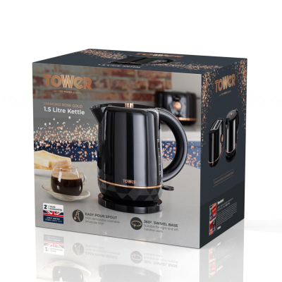 TOWER ROSE GOLD KETTLE 2200w 1.5L