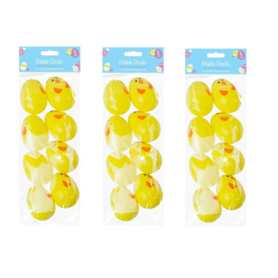 PACK OF 8 FILLABLE EGGS