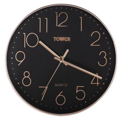TOWER QUARTZ WALL CLOCK 30CM ROSE GOLD