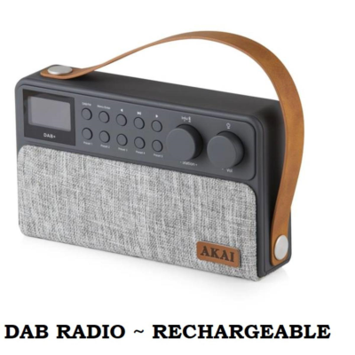 FABRIC RECHARGEABLE DAB RADIO