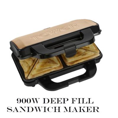 ROSE GOLD DEEP FILL SANDWICH MAKER 900W