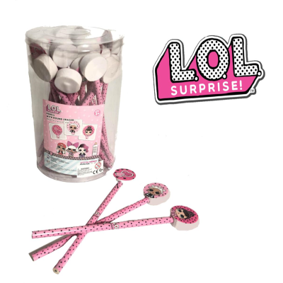LOL SURPRISE PENCILS & TOPPERS IN TUB (24)