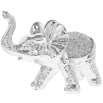 SILVER SPARKLE WALKING ELEPHANT