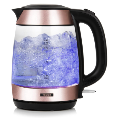 TOWER ROSE GOLD KETTLE 3000w 1.7L