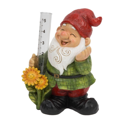GARDEN GNOME WITH SUNFLOWERS