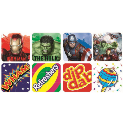 PUZZLE ERASERS 6pc MARVEL & SWEETS*
