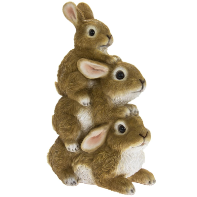 RESIN RABBITS STACKED
