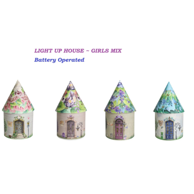 LIGHT UP HOUSE B/O GIRLS MIX - 4 ASSTD