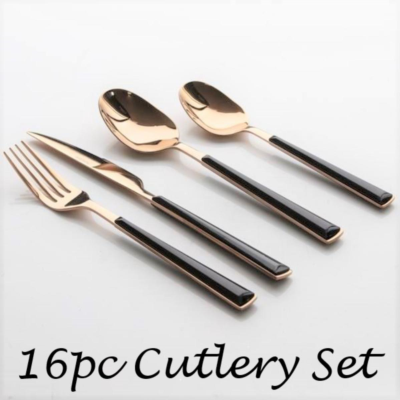 ROSE GOLD CUTLERY SET 16PC