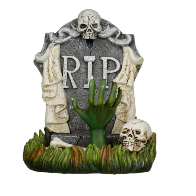 RESIN RIP ZOMBIE TOMBSTONE
