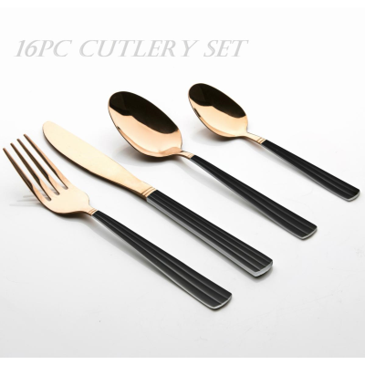 TOWER STAINLESS STEEL CUTLERY SET 16pc