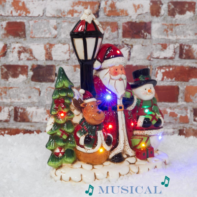 CHRISTMAS SCENE WITH MUSIC L/UP LED