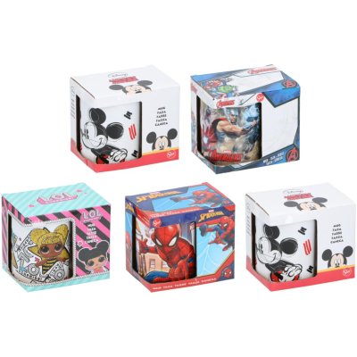 DISNEY MUGS 325ml - 5 ASSTD