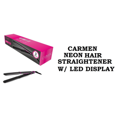 CARMEN NEON HAIR STRAIGHTENER W/ LED DISPLAY