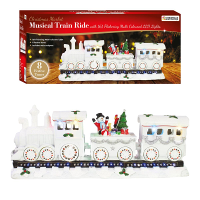 XMAS TRAIN FLICKERING LED MUSICAL