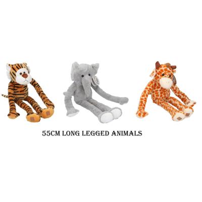 PLUSH LONG LEGGED ANIMALS 3 ASSTD 55cm