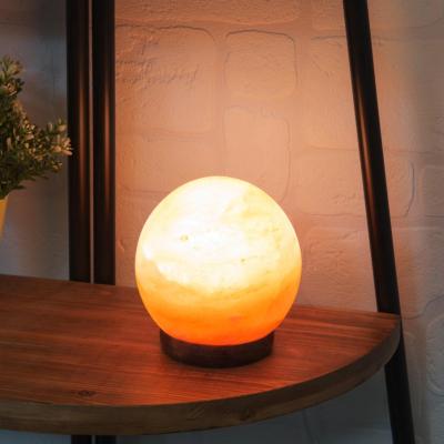 HIMALAYAN ROCK SALT SPHERE LAMP 5''