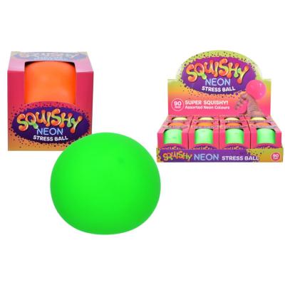 SQUISHY NEON 90mm BALL (3 ASST)