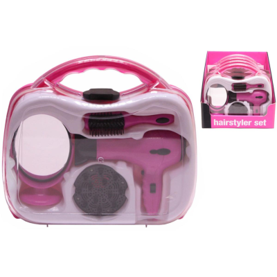 BATT OPERATED HAIRDRYER SET CARRY CASE*