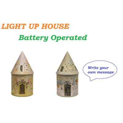 LIGHT UP HOUSE CUSTOMISABLE 2 ASSTD