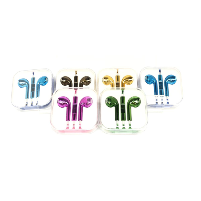 EARPHONES SQUARE CASE METALLIC (50)