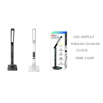 LED LAMP - WIRELESS CHARGING - CLOCK