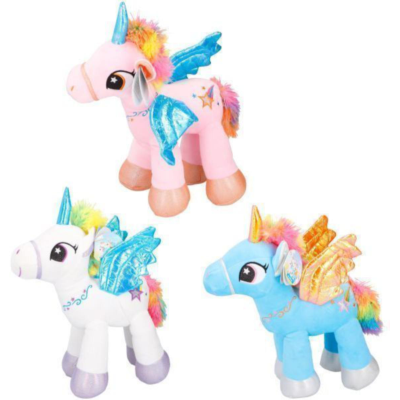 PLUSH UNICORN 38cm 3 ASSTD
