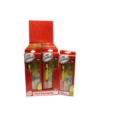 SIMPSONS PEN AND KEYRING SET