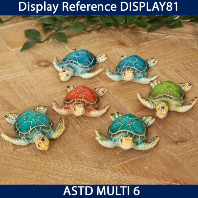 RESIN TURTLE FIGURINES 6 ASSORTED